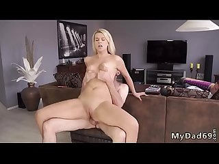 Daddy loves fucking me and old mom sex Sleepy fellow missed how his