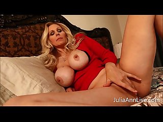 Busty milf julia ann teases stepson with big tits