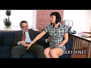 Teacher is getting wet blowjob