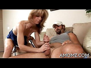 Mama rides cock as a cowgirl