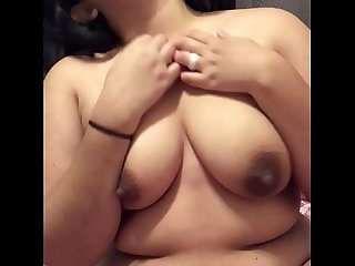 Cute pregnant Mexican, masturbating.