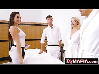 Super hot masseuse karlee grey fucking lucky dude while his wife is sleeping