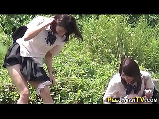 Teen asians watched peeing by fetish voyeur