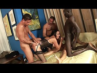 Milf in gang bang anal double penetration and cumshot in the face