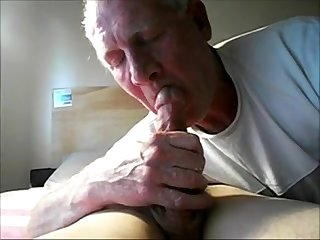 Old Daddy Sucking His Grandson's Horny Dick