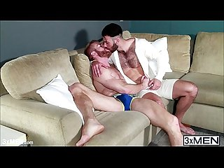 Horny gay couple fucked