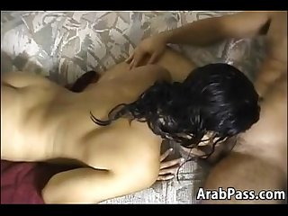 Sexy arabic mother giving a blowjob