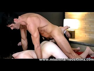 Hot gay smooth twink assfucked by mature guy