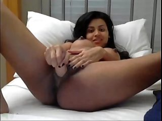 Pregnant indian girl masturbates on webcam