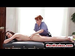 Lesbian client goes for pussy massage - Penny Pax and Eden Sin