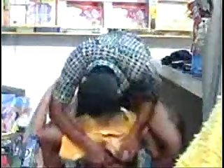 Indian Hot Young Sexy couple fucking in store room - Wowmoyback