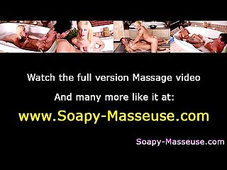 Sexy massage babe Showers with her client