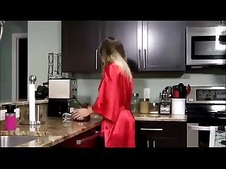 Cory chase in young son fucks his hot mom in the kitchen