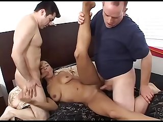 Black brazilian milf slammed by a white young boy! # 3