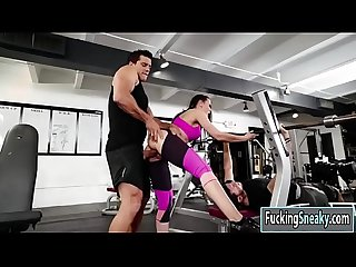 Rachel starr gets fucked in the gym