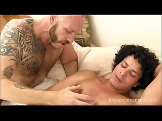Daddy chase bareback fucks and breeds freddy roman