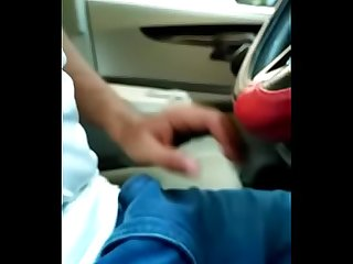 Public Indian dick flash in car