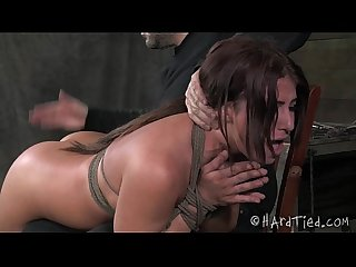 OTK Spanking Slut In Rope Bondage