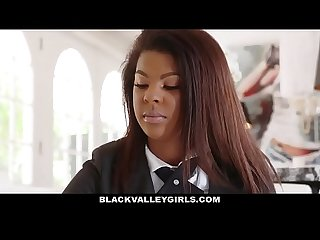 Blackvalleygirls preppy school girl sucks cock for popularity