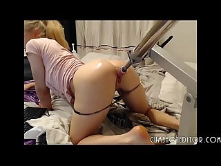 Girls4cock.com ***Horny Young Teen Fucked By A Huge Machine �..