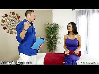 Fantasymassage milf jasmine jae starts fucking masseur