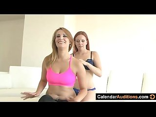 Lesbian seduces yoga instructor at audition