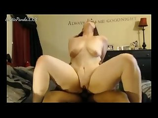 Thick White Girl Rides BBC Reverse Cowgirl