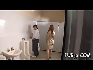 Public sex scene with asian gal
