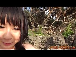 Mayuka akimoto blows tasty dick in pov outdoor