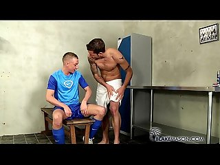 A rampant locker room fuck