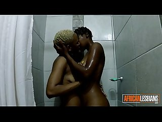 Genuine African Short Haired Lesbians Eat Pussy