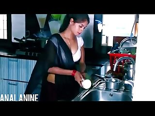 Analanine hot indian maid makes the day well