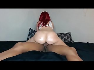 Add me on snapchat jbae 2 big booty red head rides hard cock
