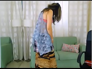 LittleTeenBB Riley dirty striptease, showing bra, then putting on schoolgirl..
