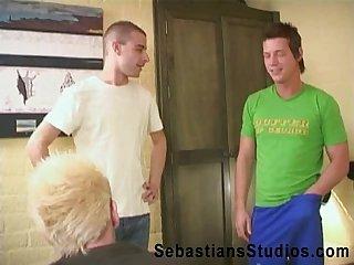 3 boys bareback