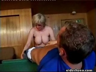 Milf blond woman