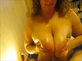 Busty milf gives a spanish