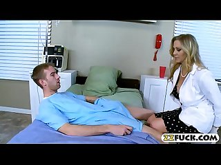 Mature doctor with big tits gets banged by her patient