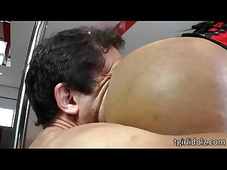 Curvaceous shemale vixen aline g gets her juicy tight ass pounded