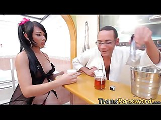Gorgeous transsexual camila gets banged roughly in A tub