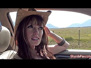 Good outdoors canadian fun with an amateur busty milf shanda fay
