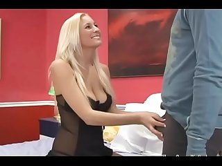 Gorgeous big tit blonde impaled by a big cock