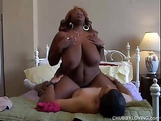 Busty black bbw loves to fuck