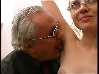 Old pig introduce a mature blonde who s about to get fucked