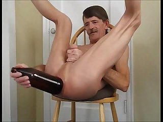 Big anal bottle fuck my ass gets more than a penis or fist