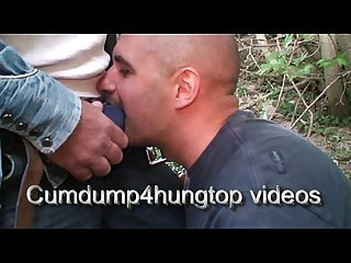 Cumdump4hungtop facial cumshot in the french woods