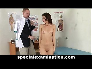 Special gyno exam for skinny teen girl
