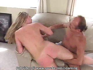 Spanking blonde