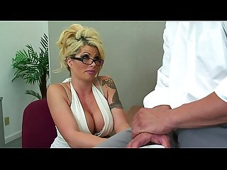Hot busty cougar from exposedcougars com gets it good in office