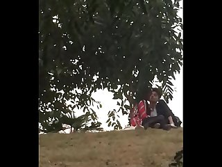 Indian teen bf sucking boob in park